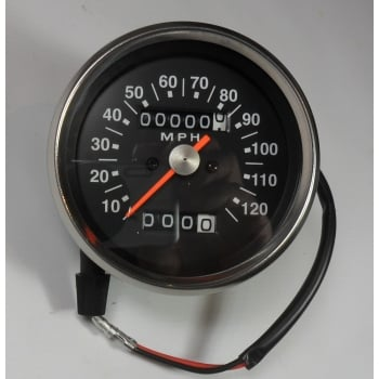 SMITHS INSTRUMENTS Triumph / BSA Speedometer Black Face 2:1 Ratio 0-120MPH Magnetic Drive