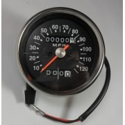 Triumph / BSA Speedometer Black Face 2:1 Ratio 0-120MPH Magnetic Drive