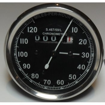 SMITHS INSTRUMENTS Smiths Type Speedometer Black Body 2:1 ration UK Speedometer Fitting