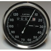 Smiths Type Speedometer Black Body 2:1 ration UK Speedometer Fitting