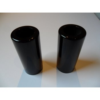 Top Covers (Pair) For Girling Type Shock Absorbers Powder Coated Black