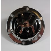 12V Chrome Horn 100mm Diameter With Fixing Bracket
