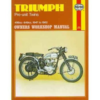 HAYNES Triumph 1947-62 Genuine Manual Pre Unit Twins 500cc & 650cc