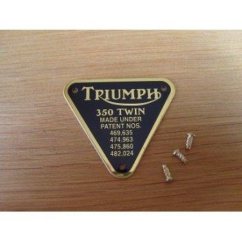 Triumph 350 Twin Patent Plate Brass