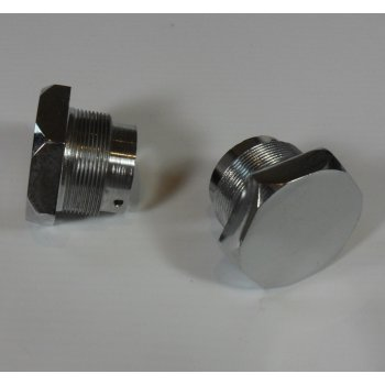 Triumph 3TA/5TA/T100 Chrome Fork Top Nut Sold as a Pair OEM No 97-1065