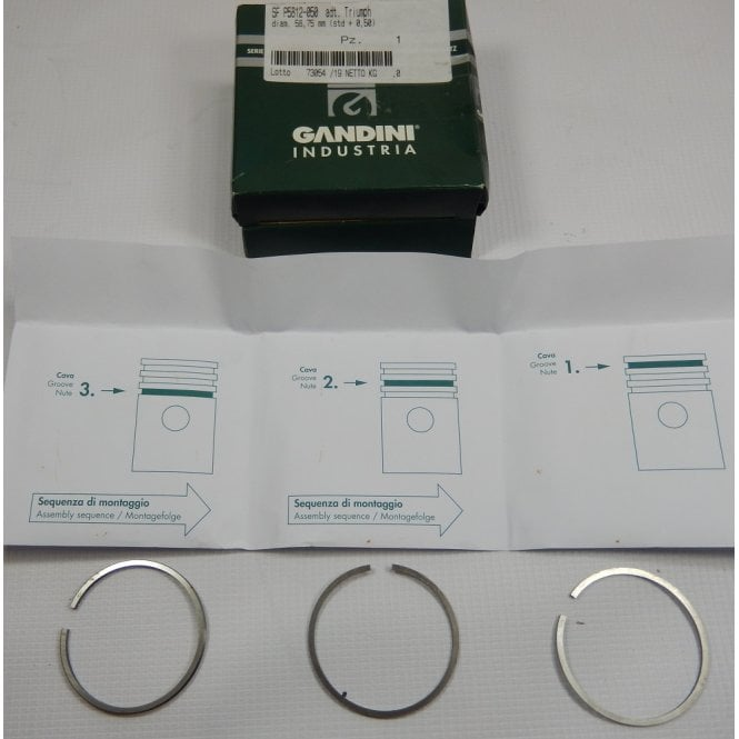 Triumph 3TA / T90 Piston Ring Set +20 Made by GPM Italy Excellent Quality