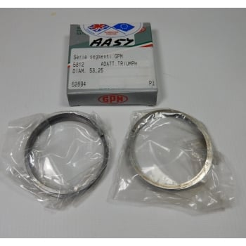Triumph 3TA T90 Standard Piston Ring Set Excellent Quality Made in Italy