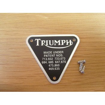 Triumph 650cc Patent Plate Alloy