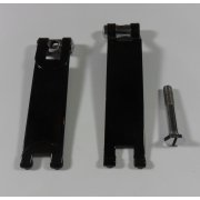 Triumph Battery Strap Assembly Powder Coated Black & Chrome Finish