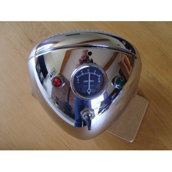 LUCAS Triumph /BSA / Norton Chrome Headlight Complete Genuine