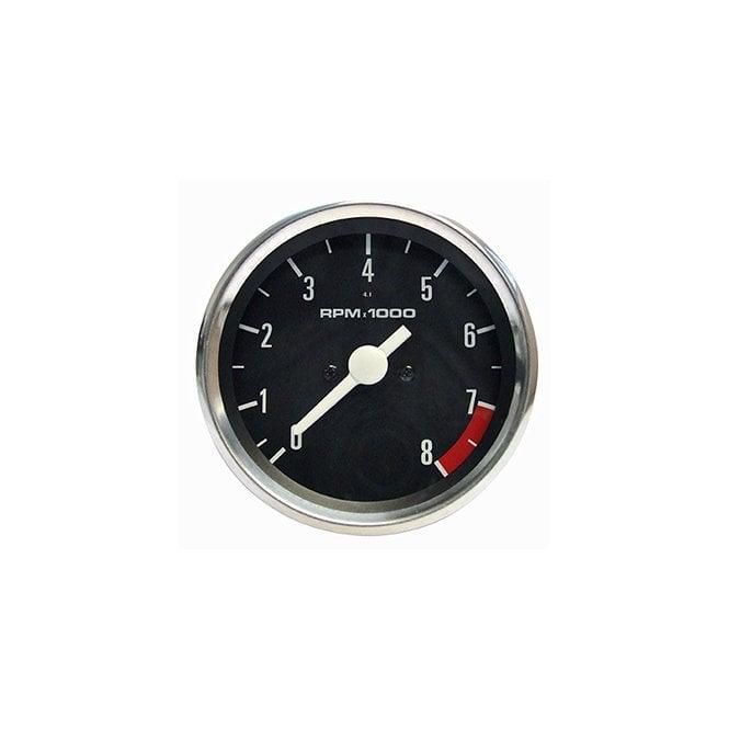 Triumph, BSA, Norton, Tachometer Veglia Type Black Face 4:1 Ratio OEM No 60-7223