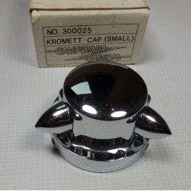 "Chrome Krommet Petrol Cap Cover (Small) 2.5"" California Custom"
