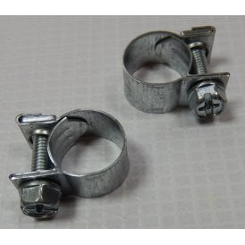 Classic Motorcycle Fuel Line Clamp (Pair) 15mm Diameter