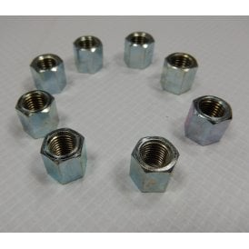 "Triumph Cylinder Base Nut Set of 8 5/6"" UNF Nuts Made in UK"