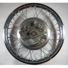 "Triumph Front Wheel 18"" Stainless Steel Re-Built With 8"" Twin Leading Shoe"