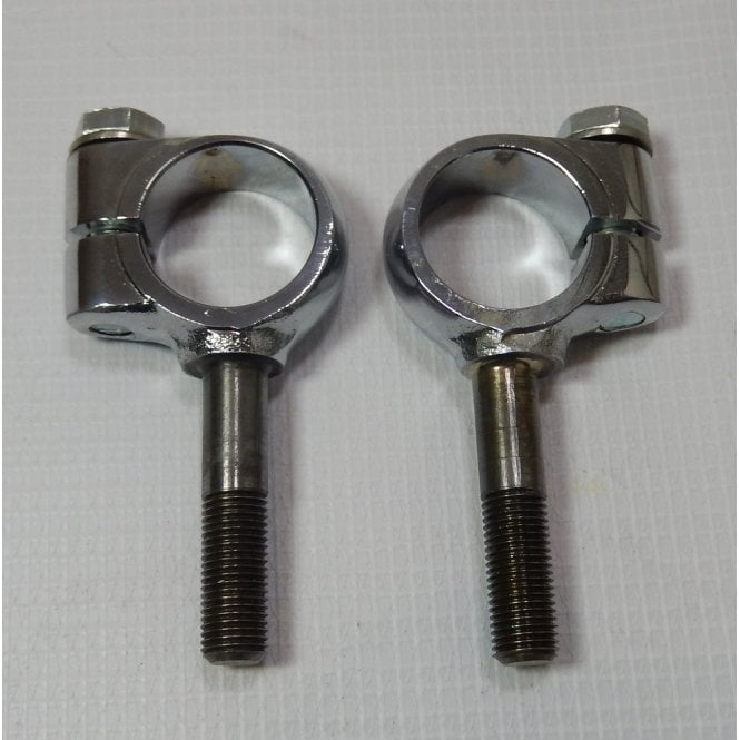 Triumph Handle Bar P Bolt Clamps & Bolts Set of 2 With Forged Domed Head Nuts UK Made