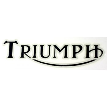 Triumph Logo Classic Motorcycle Transfer Black Letters