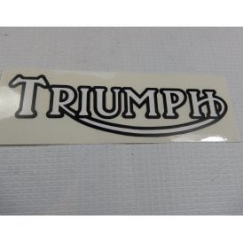 Triumph Logo Classic Motorcycle Transfer Black Letters & White Infill