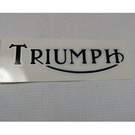 Triumph Logo Classic Motorcycle Transfer Black & Silver Letters