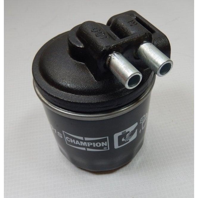 Triumph / Norton Commando External Oil Filtermount & Champion Oil filter Set