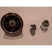"Oil Pressure Gauge 1.5"" Liquid filled Chromed Body SS Bezel With Gauge Adaptors"