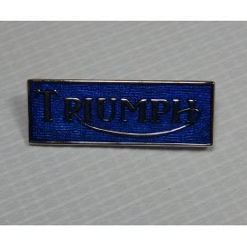 Triumph Pin Badge Blue Enamel & Chrome for Classic Motorcycle Made in UK
