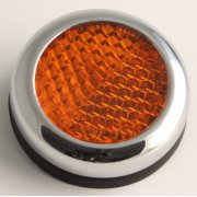 Reflector With Chrome Surround for Classic Motorcycle Sold as a Pair