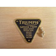 Triumph Speed Twin Patent Plate