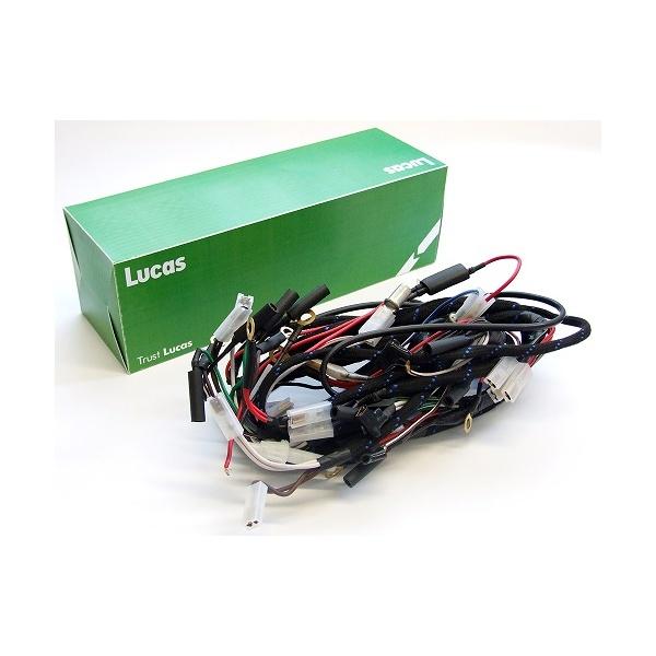 LUCAS Triumph T100, T120, TR6 Main Wiring Harness Genuine Lucas on mgb wiring harness, tr3 wiring harness, tr6 engine,