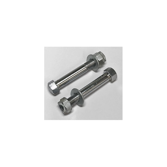 Triumph T120 Bottom Yoke Chrome Pinch Bolts With Locking Nuts (Pair)