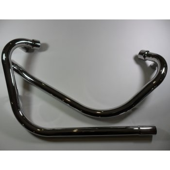 Triumph T120, TR6 Downpipes Pipe 1969 - 1970 Balanced System