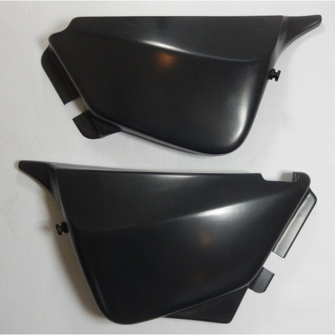 Triumph T140 Matching Side Panels in Black Made in UK OEM No 82-0024/5