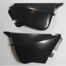 Triumph T140 Matching Side Panels in Black Made in UK OEM No 84-0024/5