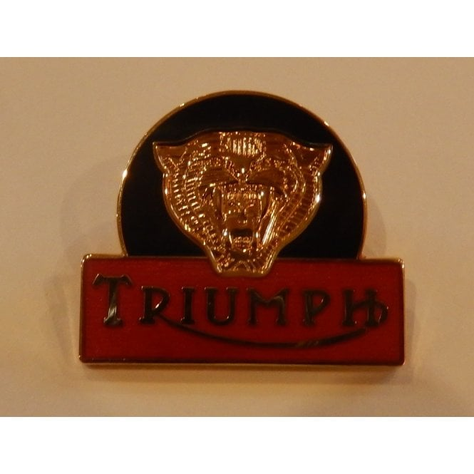 Triumph Tiger Enamel Pin Badge for Classic Motorcycle Size 1