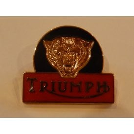 "Triumph Tiger Enamel Pin Badge for Classic Motorcycle Size 1"" x 1/1/8"""