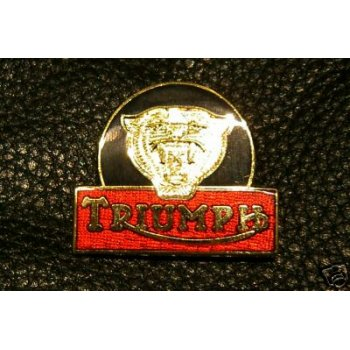 Triumph Tiger Pin Badge Classic Motorcycle