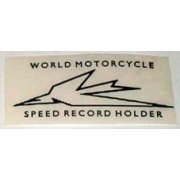 Triumph World Speed record Transfer for Classic Motorcycle