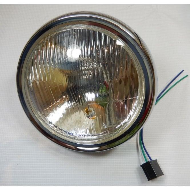 "Universal 7"" Headlight Rim & Beam Unit With Sidelight, Includes Bulbs & Bulb Holders"