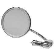Universal Bar End Mirror, Stainless Steel Round for Classic Motorcycle