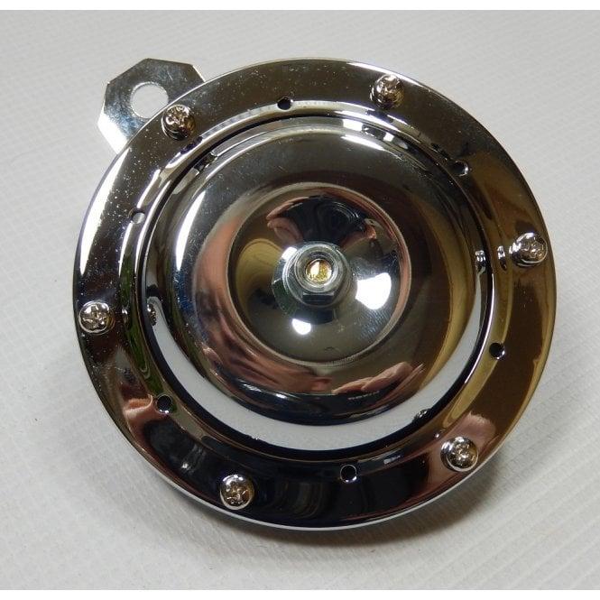 Universal Horn Chrome 12V for Classic Motorcycle 100mm Diameter
