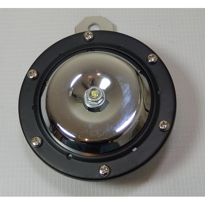 Universal Horn Chrome With Chrome Centre 12V for Classic Motorcycle 100mm Diameter