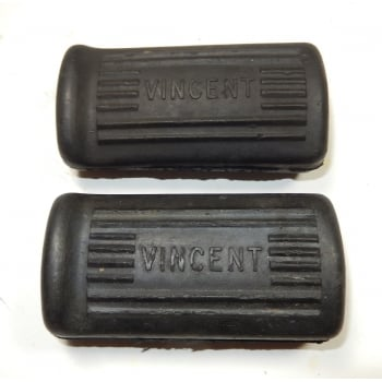 Vincent Foot Rubbers With Logo Sold as a Pair UK Made