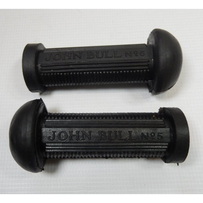 John Bull Vintage / Classic Motorcycle Logo Foot Rubbers Sold as a Pair