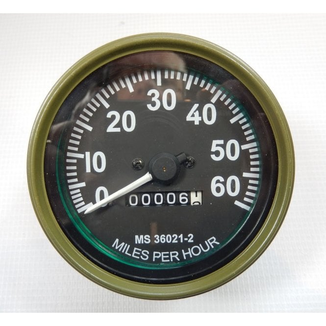 Willy Jeep Replacement Speedometer 0-60 MPH Fits M Series Models 1947-1955 Green Bezel